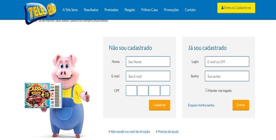 Tele Sena Digital - Cadastro