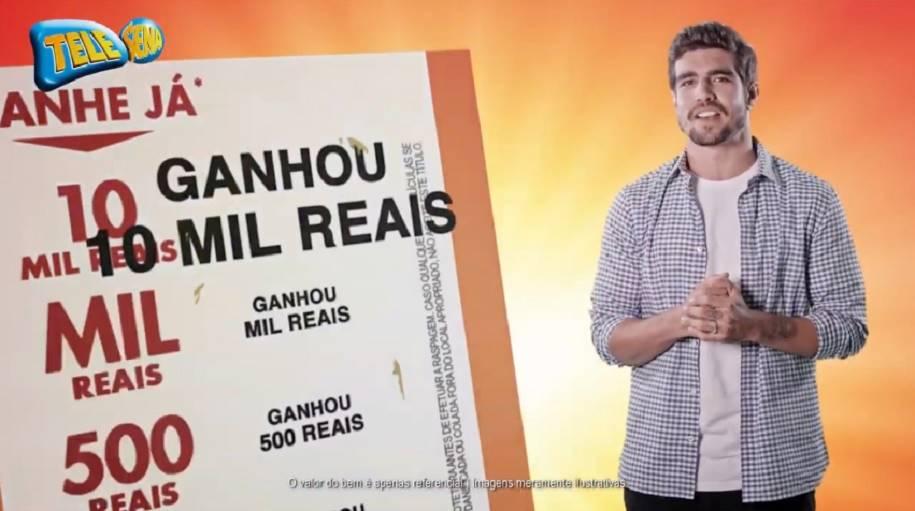 Caio Castro Estrela a Campanha de Páscoa da Tele Sena
